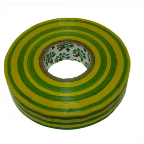 Green/Yellow 19mm Wide x 33m PVC Insulating Tape (Each)