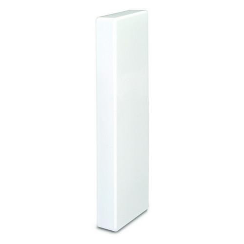 Dietzel Univolt PVC White Dado Trunking Starline 3 Compartment Square Stop Ends (Each)