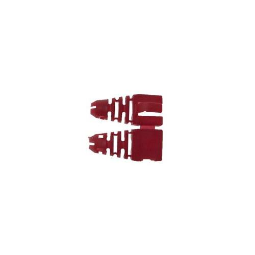 CMW Ltd  | Retro-fit RJ45 Boots (Bag / 50) Red (Pack of 50)
