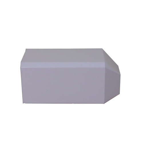 Univolt SAE50/170   Univolt Starline 3 Compartment Skirting Trunking, White,  External Angle