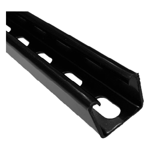 Black Deep Slotted Channel 41mm x 41mm