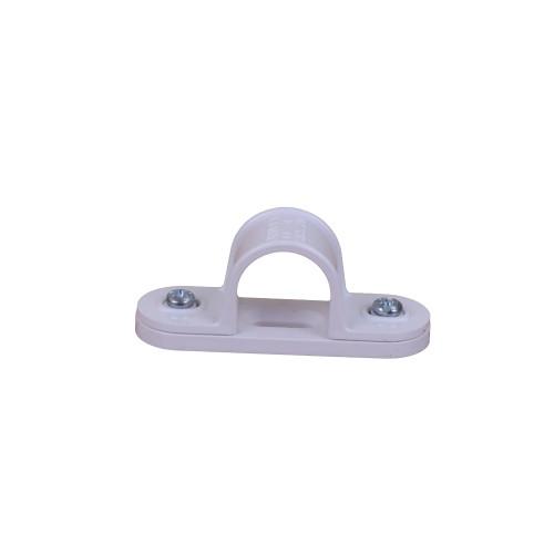 CMW Ltd plastic rigid cable conduit tube fittings CL20W   20mm White Saddle Clips