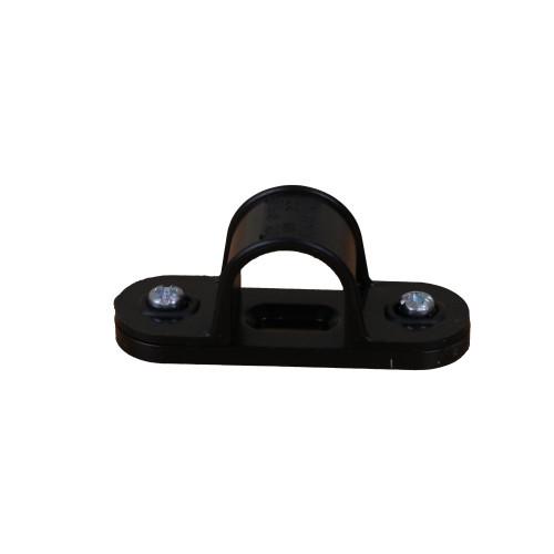 Dietzel Univolt Plastic Conduit Fittings CL20B | 20mm Black Saddle Clips for Plastic Conduit