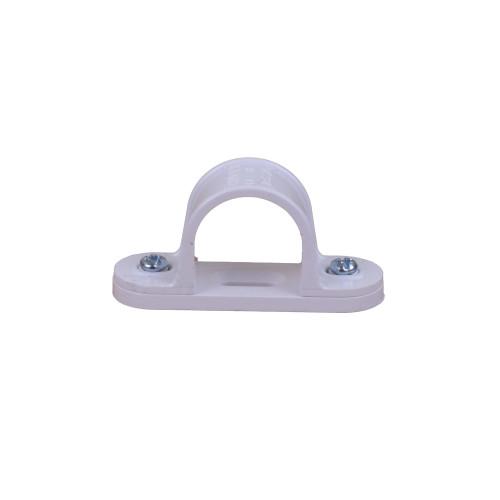 CMW Ltd plastic rigid cable conduit tube fittings CL25W   25mm White Saddle Clips