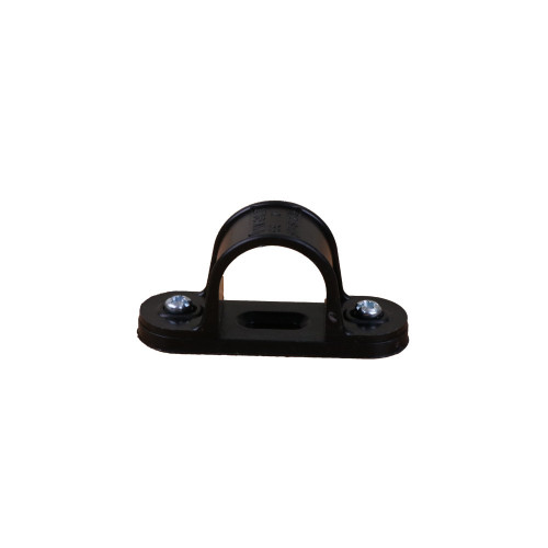 Dietzel Univolt Plastic Conduit Fittings CL25B | 25mm Black Saddle Clips for Plastic Conduit