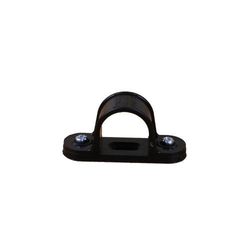 Dietzel Univolt Plastic Conduit Fittings CL25B | 25mm Black Saddle Clips for Plastic Conduit