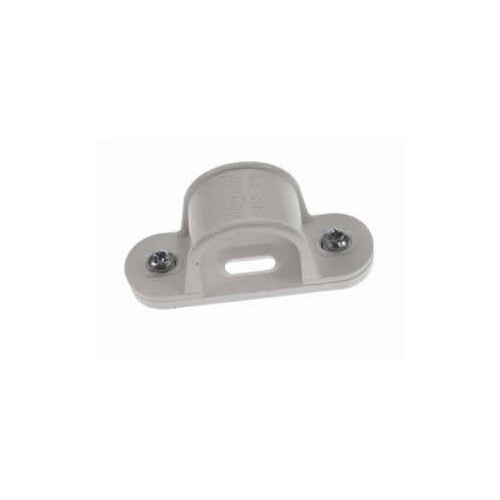 20mm White Saddle Clips (Each)
