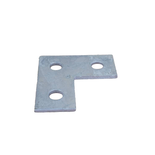 3 Hole Flat L Plate Fitting (Each)