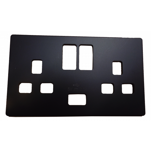 Scolmore SCP470BK | Black Fascia Cover Plate For use with SIN770BK