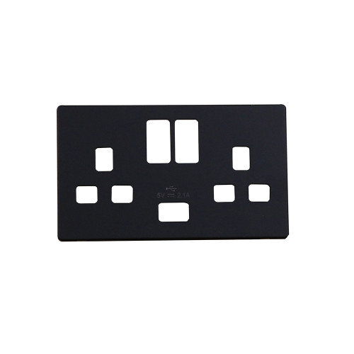 Black Fascia Cover Plate For use with SIN770BK (Each)