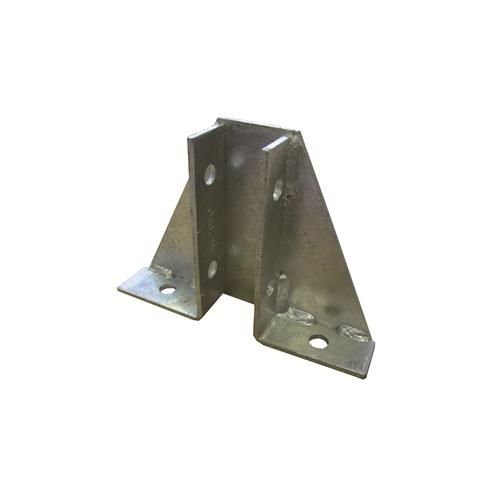CMW Ltd, Galvanised Rigid Conduit Tube Fittings, Metpro MP36 | Single Gusset Base Plate Hot Dipped Galvanised