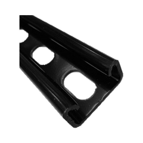 Black Shallow Slotted Channel 41mm x 21mm