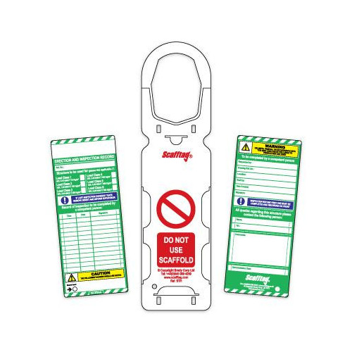 Scaffold Tags - Scafftag® MK1 (Pack of 10 holders, 20 Inserts)