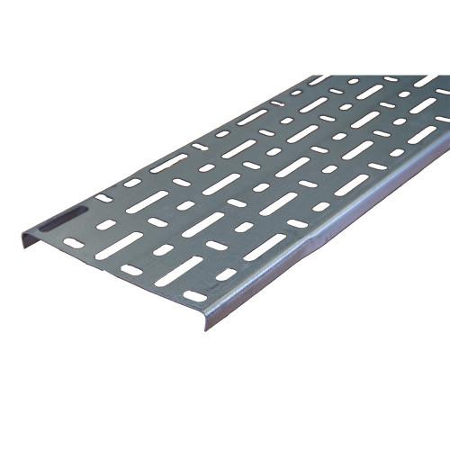 METSEC CTSL12/0150PG3 150mm Standard Duty Steel Cable Tray 10mm Return Edge Pre Galv (3m lgth)