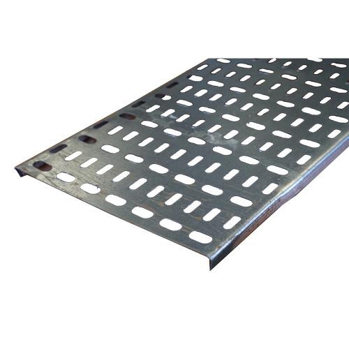 METSEC CTSL12/0225PG3 225mm Standard Duty Cable Tray 10mm Return Edge Pre Galv (3m lgth)