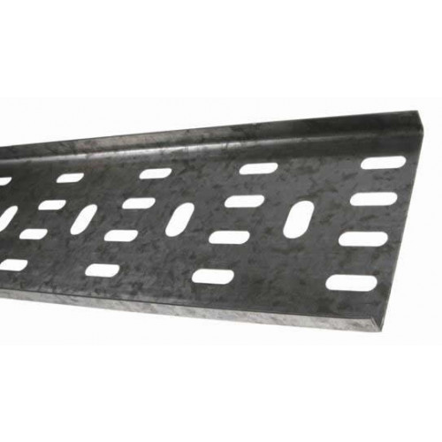 METSEC CTSL12/0075PG3 | 75mm Standard Duty Cable Tray 10mm Return Edge Pre Galv (3m lgth)