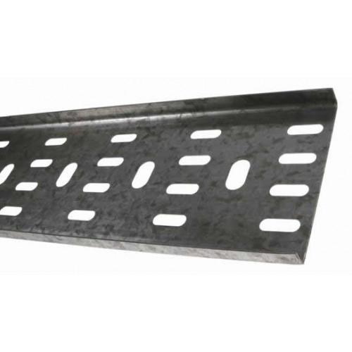 METSEC CTSL12/0075PG3 | 75mm Standard Duty Cable Tray 10mm Return Edge Pre Galv (3m lgth)