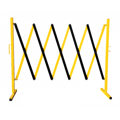 CMW Ltd  | Small Expandable Steel Safety Scissor Barrier Yellow/Black