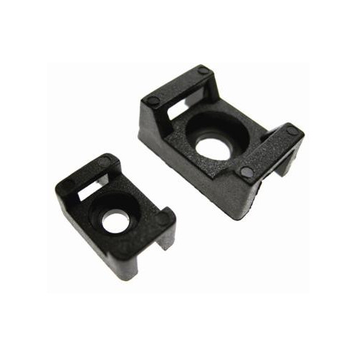 CMW Ltd Cable Fixings, Cable tie Bases  | Black Saddle Mounts ( large ) (Bag / 100)