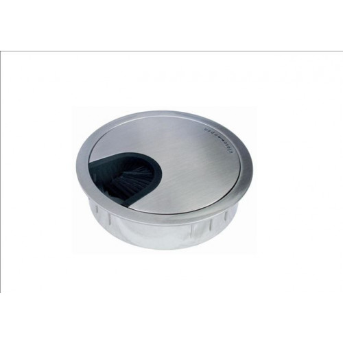 Stainless Steel 80mm Desk Grommet (Each)