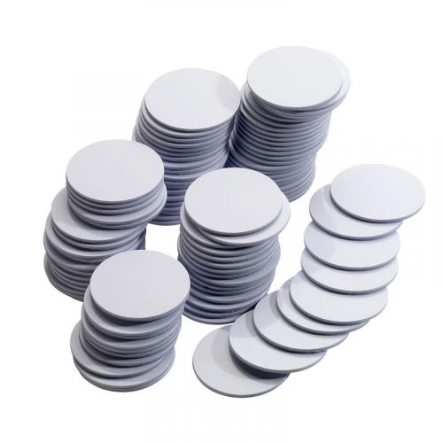 Mifare 1K Adhesive White Disc. 13.56Mhz. 1k Memory. Read/Write Capability. Single Disc Supplied.