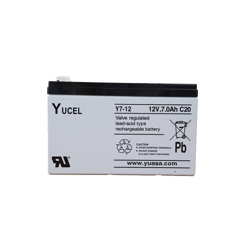 Yucell  YUCEL 12v7amp back up battery. For use with 12v PSU's. for 24v use 2 batteries