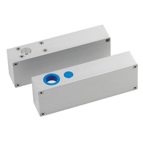 12Vdc monitored surface mount solenoid bolt. Fail safe. Variable relock time. Suitable for horizontal or vertical installation