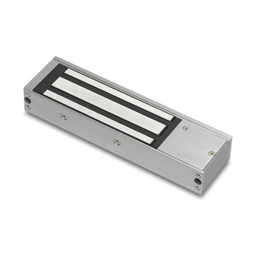 Standard unmonitored maglock 12/24Vdc. 545kg/1200lb holding force. Silver anodised aluminium finish