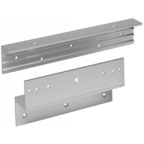 Budget Z & L bracket for slim EM maglock. Fully adjustable. Silver anodised aluminium finish