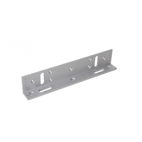 Fully adjustable L bracket for slim size EM fire rated maglock. Silver anodised aluminium finish