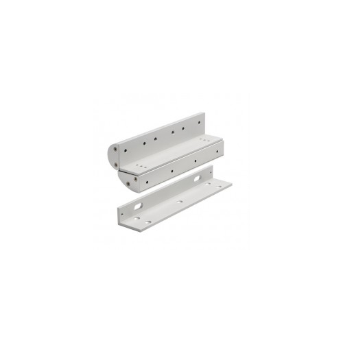 Double Covered Z & L Bracket For Slim EM Maglock. Architectural Design. Silver Anodised Aluminium Finish