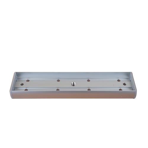 Surface armature housing for slim EM maglock. Silver anodised aluminium finish