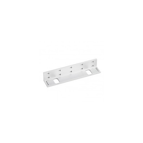 Fully adjustable L bracket for standard size EM maglock. Silver anodised aluminium finish