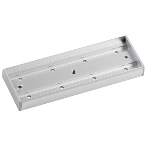 Surface armature housing for standard EM maglock. Silver anodised aluminium finish
