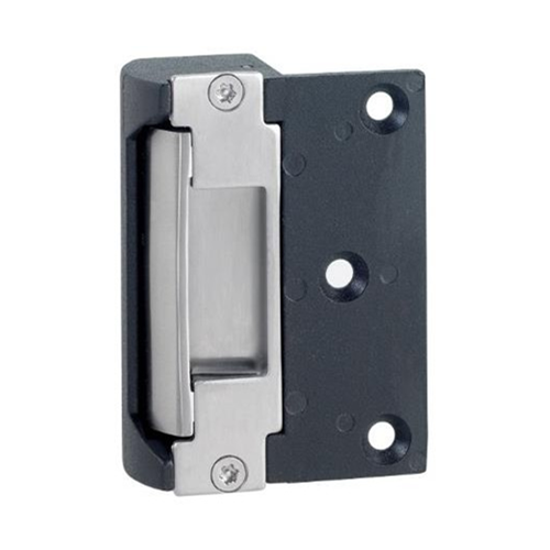 12Vdc surface mount rim release electric strike. Switchable fail safe/fail secure.