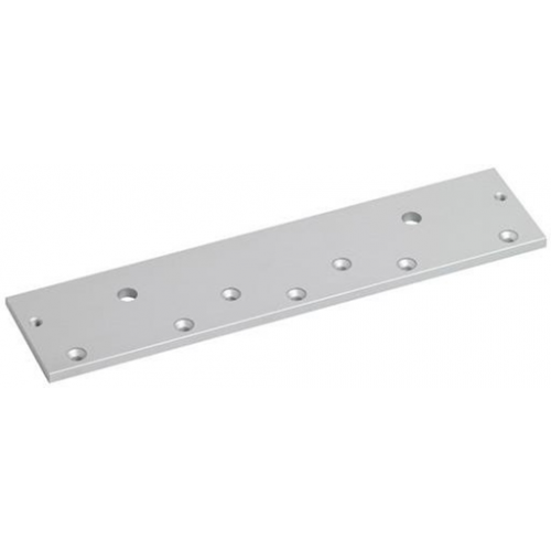 Extended top plate for standard EM maglock. Allows optimum fixing position.Silver anodised aluminium finish