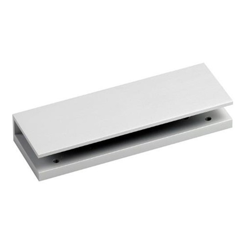 Glass door saddle for standard EM maglock. Shims include. Silver anodised aluminium finish