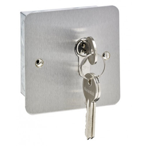 Stainless steel euro profile key switch flush mount. maintained action. Cylinder not included