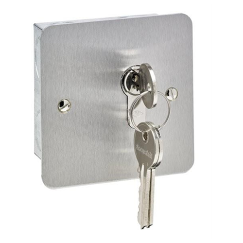Stainless steel euro profile key switch flush mount. momentary action. Cylinder not included