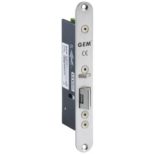 12Vdc fire rated monitored mortice electric lock. Fail safe. Suitable for use on emergency escape routes. Suitable for horizontal or vertical installation