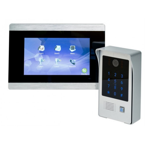 """Colour video door entry kit. Integrated keypad and proximity reader. 7"""" touch screen monitor"""