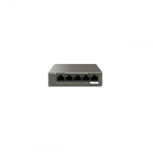5 Port 10/100 Switch with 4 Ports PoE (30W Max per port, 58W Total PoE Budget)