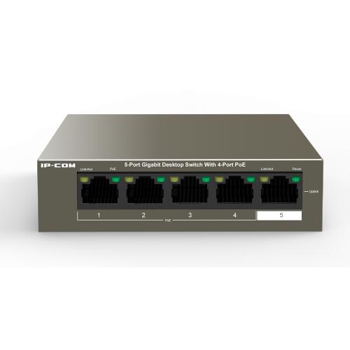 5 Port Gigabit Switch with 4 Ports PoE (30W Max per port, 58W Total PoE Budget)
