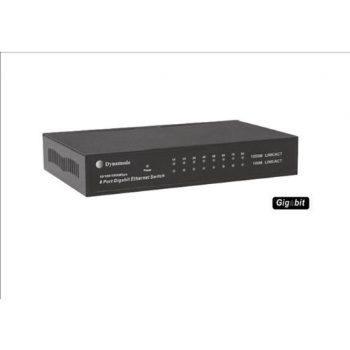LMS DATA SWG80010M | Desktop 8 Port Gigabit Switch 10/100/1000