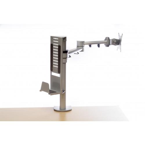 CMW Ltd  | Silver Thin Client Arm CPU Holder 35-60mm Width