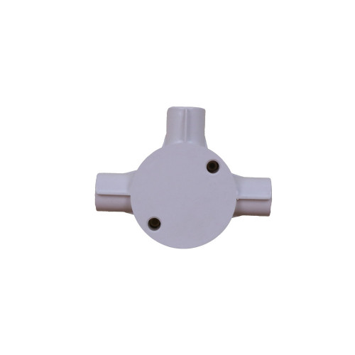 Dietzel Univolt Plastic Conduit Fittings CB20/3WS | LSF 20mm White Plastic Conduit Tee Box