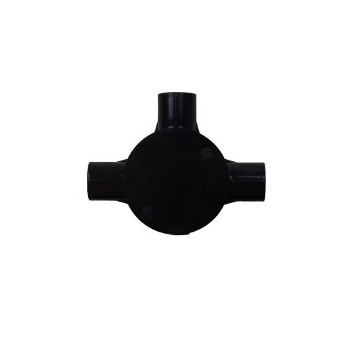 Dietzel Univolt Plastic Conduit Fittings CB20/3SW | 20mm Black Plastic Conduit Tee Box