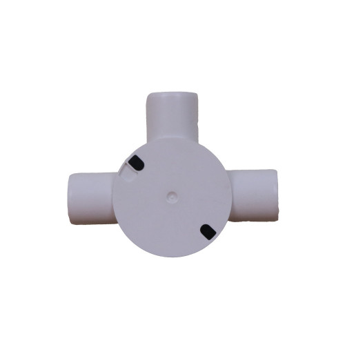 Dietzel Univolt Plastic Conduit Fittings CB25/3WS   LSF 25mm White Plastic Conduit Tee Box