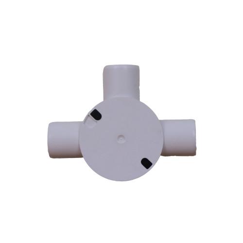 Dietzel Univolt Plastic Conduit Fittings CB25/3WS | LSF 25mm White Plastic Conduit Tee Box