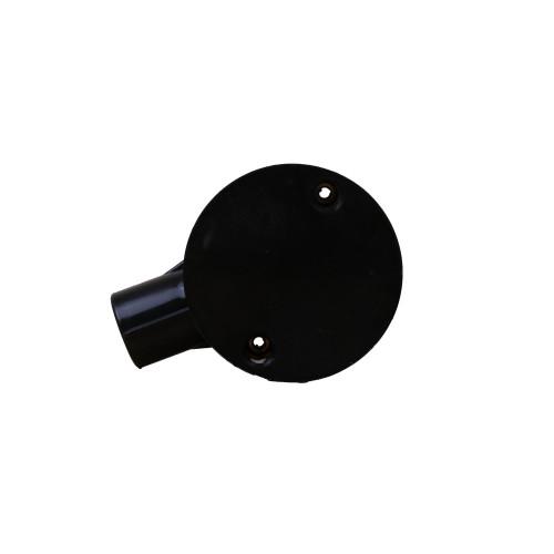 Dietzel Univolt Plastic Conduit Fittings CB20/1B | 20mm Black Plastic Conduit Terminal Box